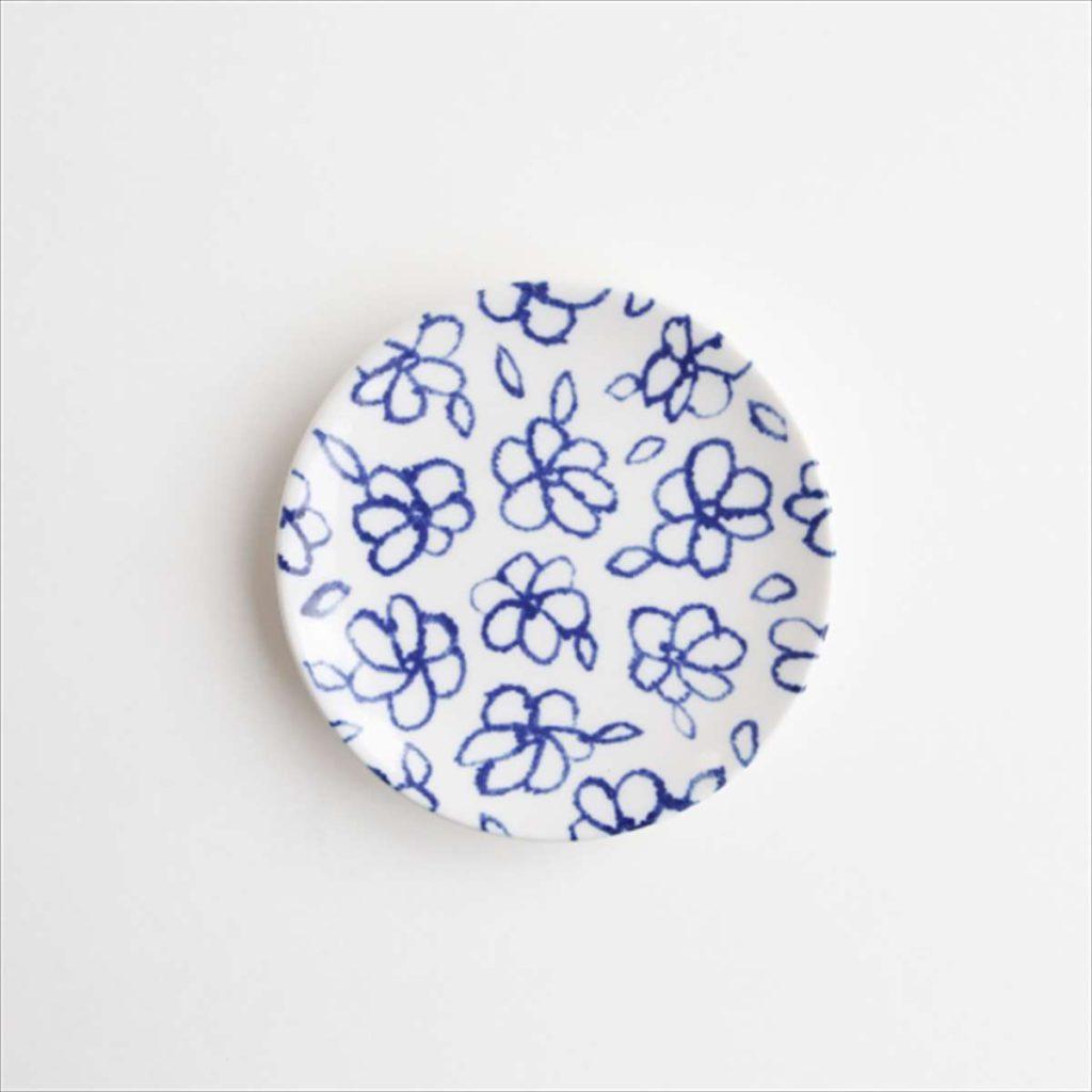 豆皿(瀬戸焼)/ 花柄スタイル写真