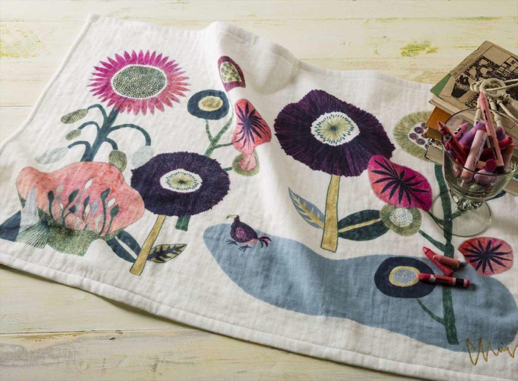 あの時の庭 TTC-MIW花とドードー TEA TOWEL 今治タオルカラー写真01