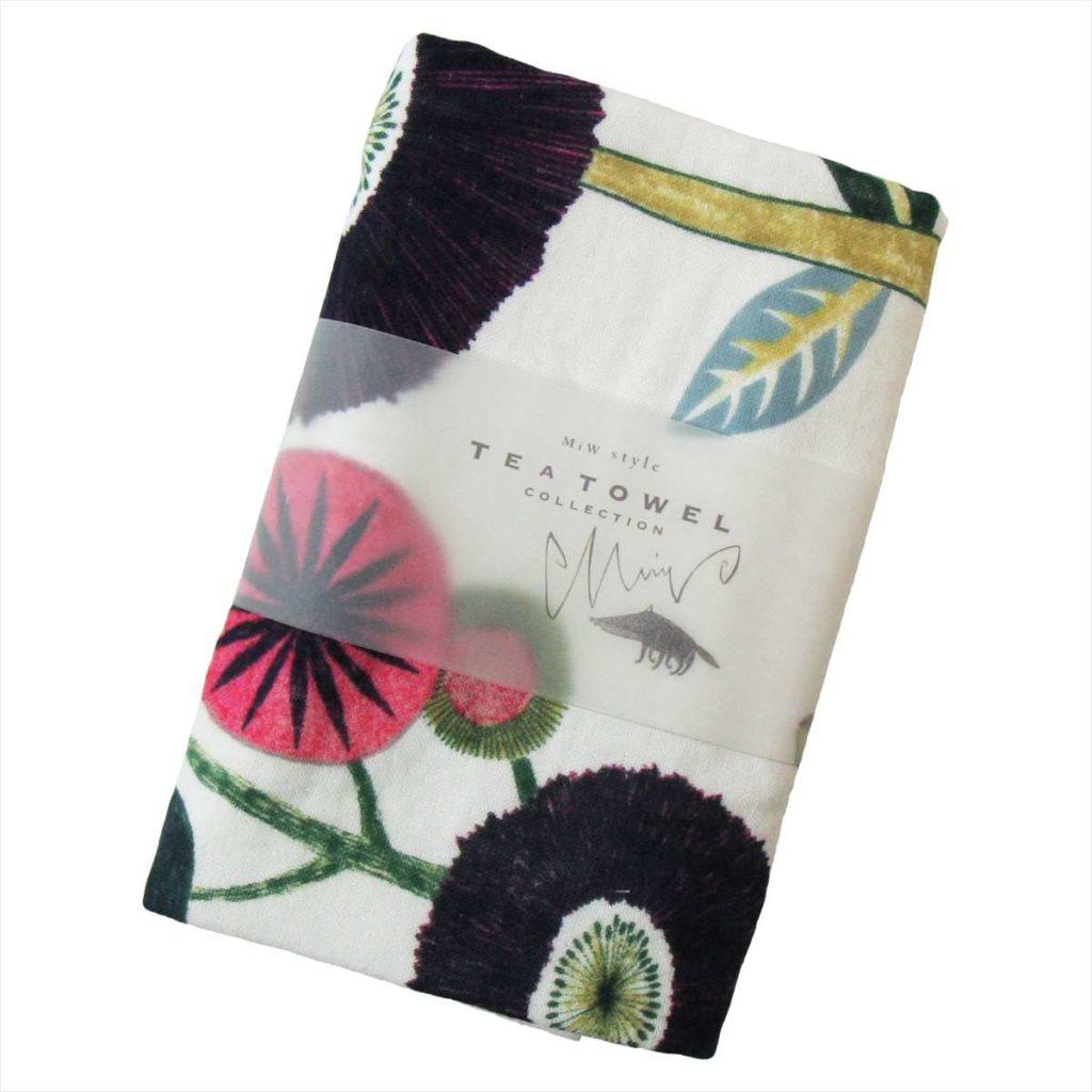 あの時の庭 TTC-MIW花とドードー TEA TOWEL 今治タオルカラー写真02