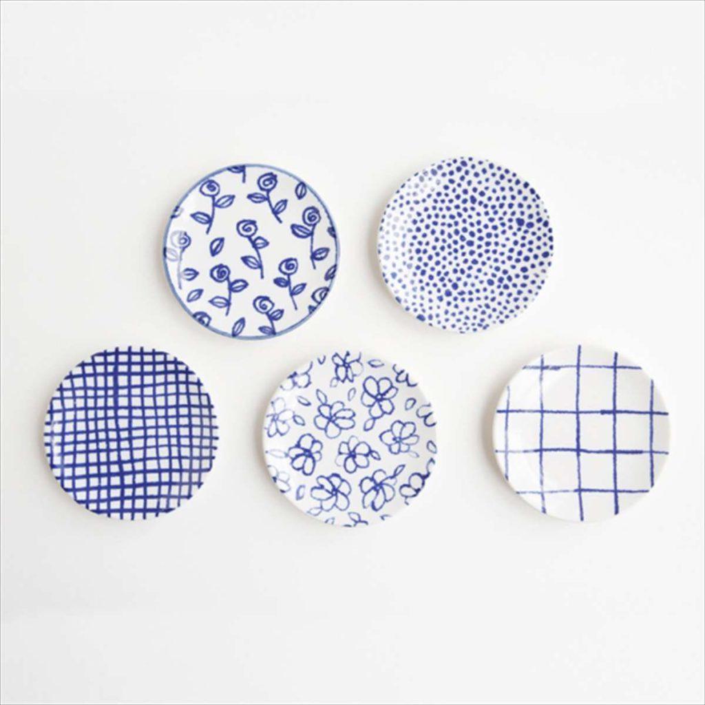 豆皿(瀬戸焼)/ チェックカラー写真01