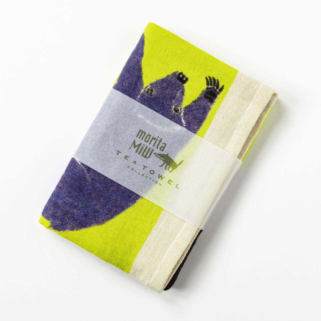 ティータオル 檸檬みたいな月 / クマ TEA TOWEL 今治タオル 1-67964-21-Yカラー写真02